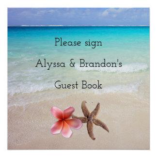 Ocean Scene Sign Wedding Guest Book