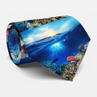 """OCEAN SCENERY BACKGROUND NECKTIE"" TIE"