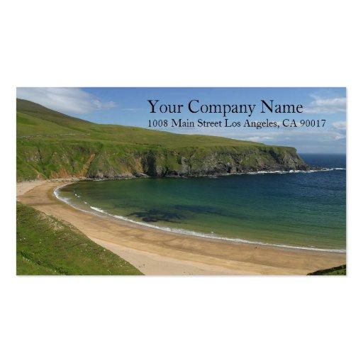 Ocean Sea Beach Rocky Mountains Shore Shoreline Business Card Templates