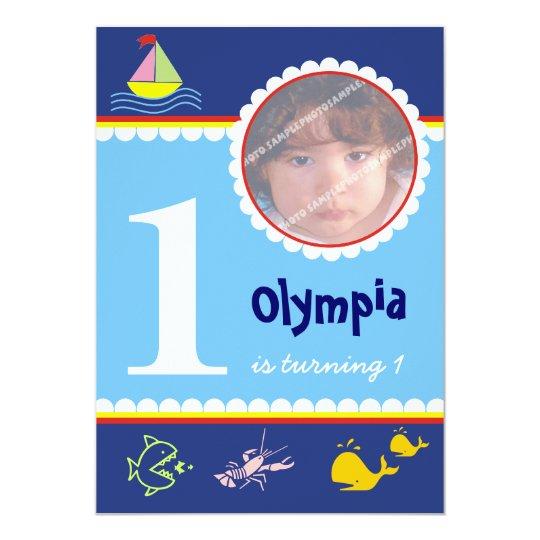 Ocean Sea Birthday Invitations
