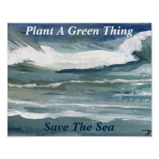 Ocean Sea Global Climate Oceans Activism Poster