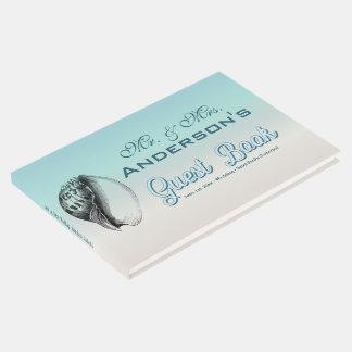 Ocean Sea Shell Ombre Wedding Guest Book