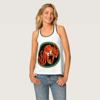 Ocean sea tropical orange king crab singlet
