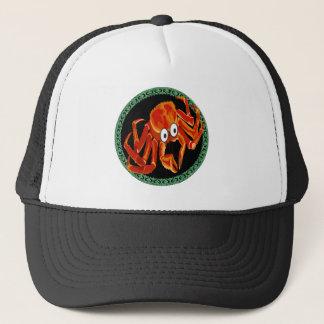Ocean sea tropical orange king crab trucker hat