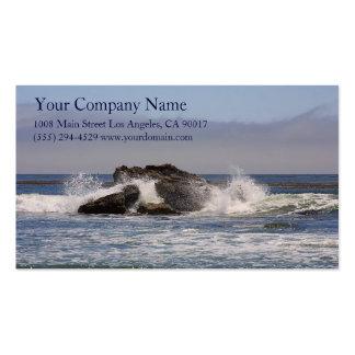 Ocean Sea Waves Splash Rocky Coast Shore Shoreline Pack Of Standard Business Cards