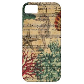 ocean seashells seahorse scripts beach fashion iPhone 5 cases