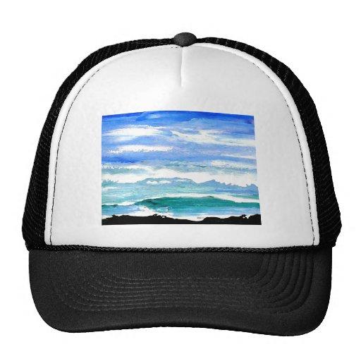 Ocean Serenity Sea Waves Oceanscape Decor Gifts Trucker Hat