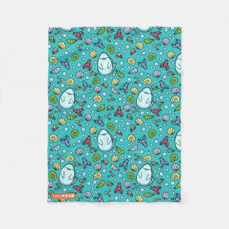 Ocean & Shark Pattern Fleece Blanket