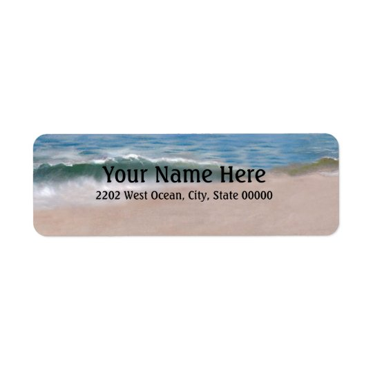 Ocean Shore Beach Return Address Label
