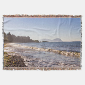 Ocean Shore Line Throw Blanket