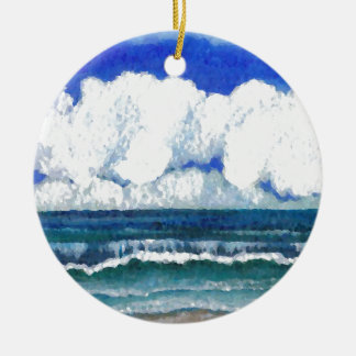 Ocean Sonata Sea Beach Summertime Art Ceramic Ornament