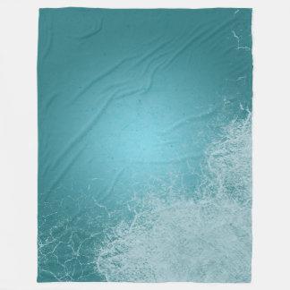 Ocean Splash Calm Blue Waves Fleece Blanket