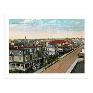 Ocean St., Cape May, New Jersey Vintage Postcard
