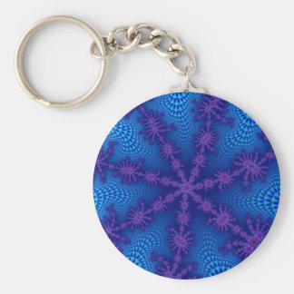 Ocean Starburst Basic Button Keychain