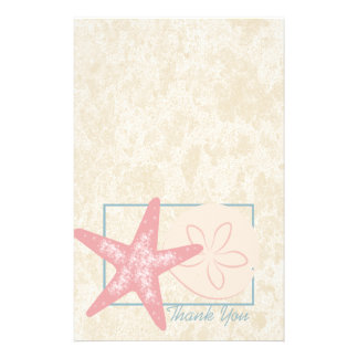 Ocean Starfish Thank You Custom Customised Stationery