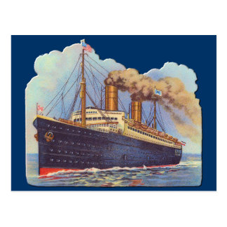 Ocean Steam Liner Ship Postcard