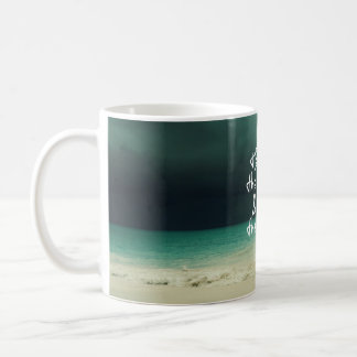Ocean Storm with God Quote Coffee Mug