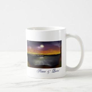 Ocean sundown 1, Peace & Quiet Coffee Mug