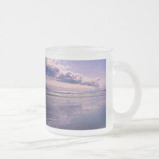Ocean Sunrise Frosted Glass Coffee Mug