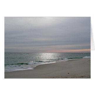 Ocean Sunrise in December Note Card