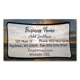 Ocean Sunset Business Information Magnetic Card