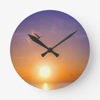 Ocean Sunset Clocks