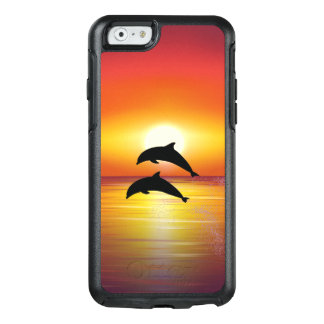 Ocean Sunset Dolphins Couple Playing Love OtterBox iPhone 6/6s Case