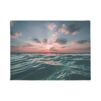 Ocean Sunset door mat