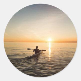 Ocean Sunset Kayak Canoe Stickers