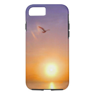 Ocean Sunset Lone Seagull iPhone 7 Case