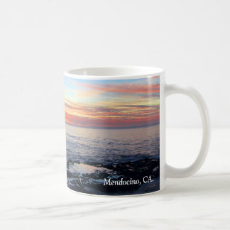 Ocean Sunset Mug, Mendocino, CA. Basic White Mug