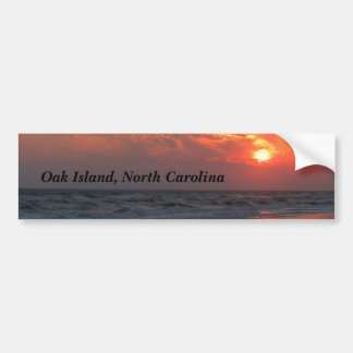 Ocean Sunset - Oak Island, NC Bumper Stickers