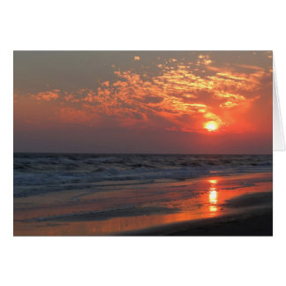 Ocean Sunset - Oak Island, NC Card