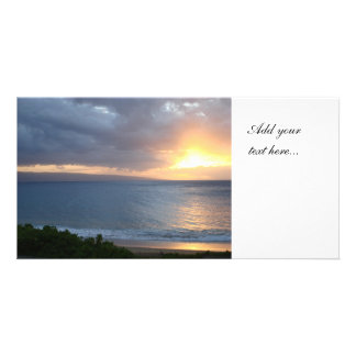 Ocean Sunset Photo Card
