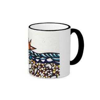 Ocean Sunset Ringer Mug