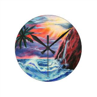 Ocean Sunset Wallclock