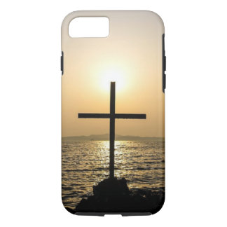 Ocean Sunset with Cross Religious Cell Phone Case