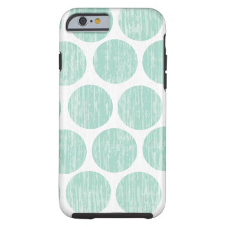 Ocean Teal Distressed Polka Dot iPhone 6 Tough iPhone 6 Case
