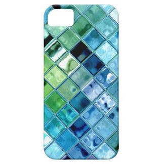 Ocean Teal Glass Mosaic Tile Art iPhone 5 Cases