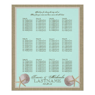 Ocean Theme and Burlap Seating Chart