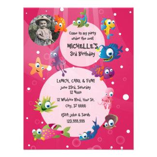 Ocean Theme Children s Birthday Party Invitation