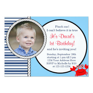 Ocean Themed Birthday Invitation