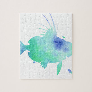 Ocean tide Aqua Fish custom print Jigsaw Puzzle