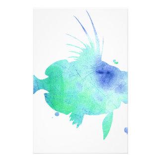 Ocean tide Aqua Fish custom print Stationery