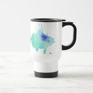 Ocean tide Aqua Fish custom print Travel Mug