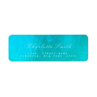 Ocean Tiffany  Glass Metal Return Address Labels