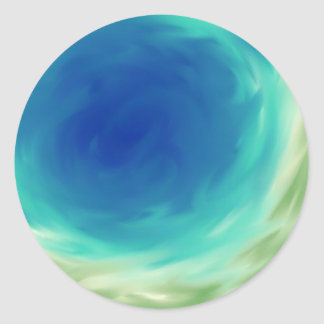 Ocean Tones Round Sticker
