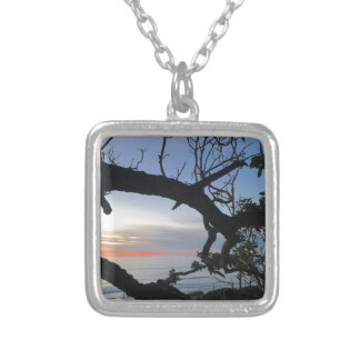 Ocean & Trees Silver Plated Necklace