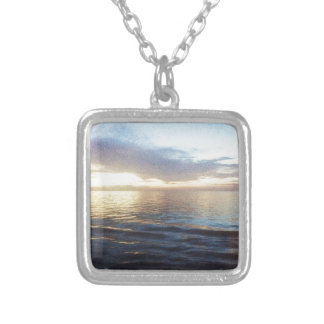Ocean Twilight Silver Plated Necklace