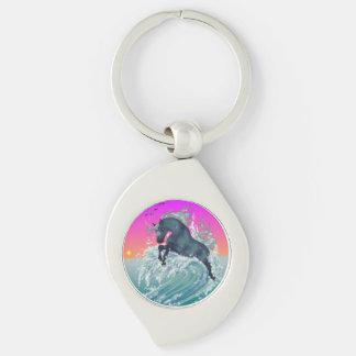 Ocean Unicorn Swirl Keychain